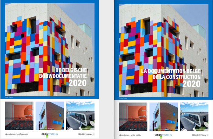 "Votre exemplair (digitale) gratuit ""Documentation Belge de la Construction 2020"""